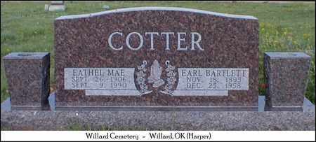 COTTER, EARL BARTLETT - Harper County, Oklahoma   EARL BARTLETT COTTER - Oklahoma Gravestone Photos