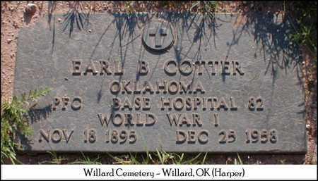 COTTER (VETERAN), EARL BARTLETT - Harper County, Oklahoma   EARL BARTLETT COTTER (VETERAN) - Oklahoma Gravestone Photos