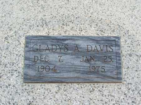 DAVIS, GLADYS A - Jackson County, Oklahoma   GLADYS A DAVIS - Oklahoma Gravestone Photos