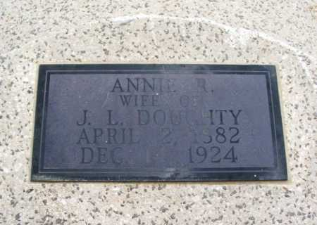 DOUGHTY, ANNIE R - Jackson County, Oklahoma | ANNIE R DOUGHTY - Oklahoma Gravestone Photos