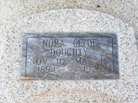 CLYDE DOUGHTY, NORA - Jackson County, Oklahoma | NORA CLYDE DOUGHTY - Oklahoma Gravestone Photos