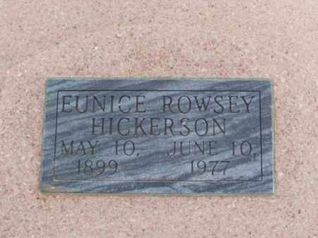 HICKERSON, EUNICE - Jackson County, Oklahoma   EUNICE HICKERSON - Oklahoma Gravestone Photos