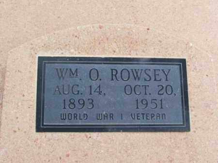 ROWSEY, WILLIAM O - Jackson County, Oklahoma | WILLIAM O ROWSEY - Oklahoma Gravestone Photos