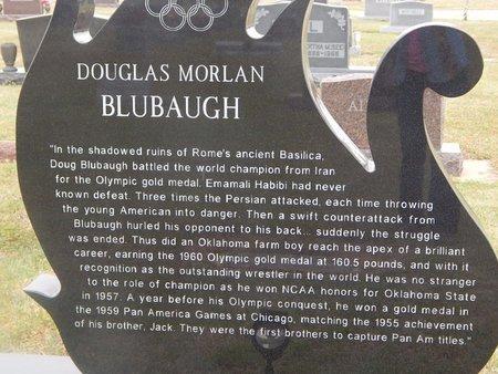 BLUBAUGH, DOUGLAS MORLAN (BACK SIDE) - Kay County, Oklahoma | DOUGLAS MORLAN (BACK SIDE) BLUBAUGH - Oklahoma Gravestone Photos