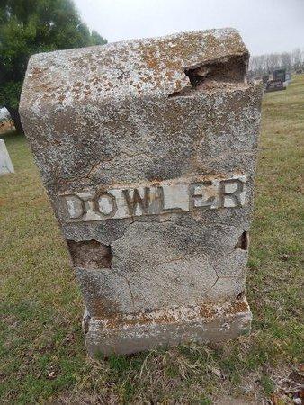 DOWLER, UNKNOWN - Kay County, Oklahoma   UNKNOWN DOWLER - Oklahoma Gravestone Photos