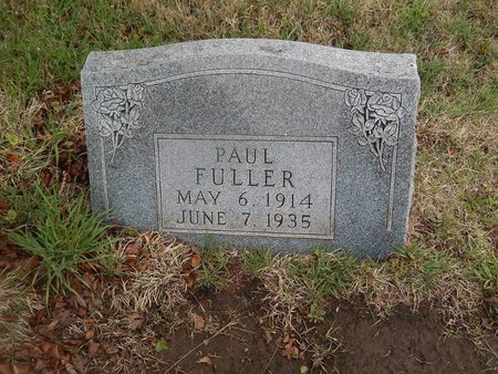 FULLER, PAUL - Kay County, Oklahoma | PAUL FULLER - Oklahoma Gravestone Photos