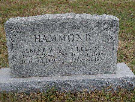 HAMMOND, ALBERT W - Kay County, Oklahoma | ALBERT W HAMMOND - Oklahoma Gravestone Photos