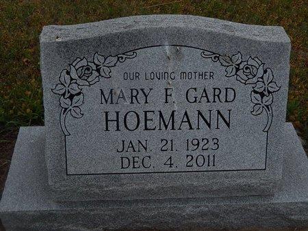 GARD HOEMANN, MARY F - Kay County, Oklahoma | MARY F GARD HOEMANN - Oklahoma Gravestone Photos