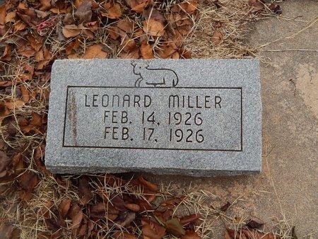 MILLER, LEONARD - Kay County, Oklahoma | LEONARD MILLER - Oklahoma Gravestone Photos