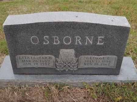 OSBORNE, GEORGE L - Kay County, Oklahoma | GEORGE L OSBORNE - Oklahoma Gravestone Photos