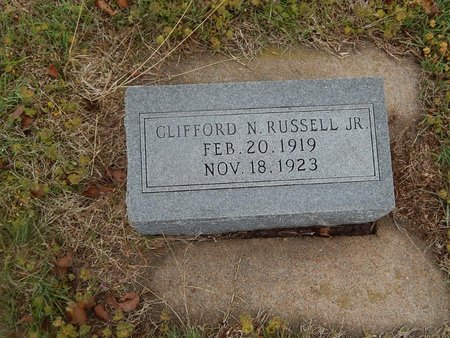 RUSSELL, CLIFFORD N JR - Kay County, Oklahoma | CLIFFORD N JR RUSSELL - Oklahoma Gravestone Photos