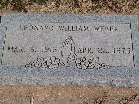 WEBER, LEONARD WILLIAM - Kay County, Oklahoma   LEONARD WILLIAM WEBER - Oklahoma Gravestone Photos