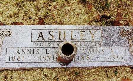 ASHLEY, ANNIS L - Kiowa County, Oklahoma | ANNIS L ASHLEY - Oklahoma Gravestone Photos