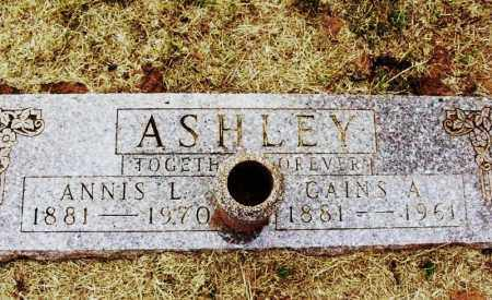 ASHLEY, GAINS A - Kiowa County, Oklahoma | GAINS A ASHLEY - Oklahoma Gravestone Photos