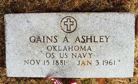 ASHLEY (VETERAN), GAINS A - Kiowa County, Oklahoma | GAINS A ASHLEY (VETERAN) - Oklahoma Gravestone Photos