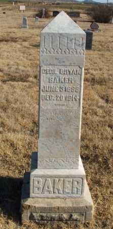 BAKER, CECIL BRYAN - Kiowa County, Oklahoma | CECIL BRYAN BAKER - Oklahoma Gravestone Photos