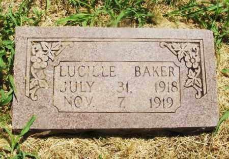 BAKER, LUCILLE - Kiowa County, Oklahoma | LUCILLE BAKER - Oklahoma Gravestone Photos