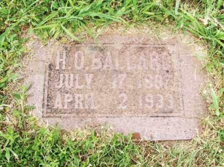 BALLARD, H O - Kiowa County, Oklahoma | H O BALLARD - Oklahoma Gravestone Photos