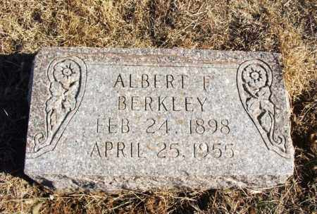 BERKLEY, ALBERT F - Kiowa County, Oklahoma | ALBERT F BERKLEY - Oklahoma Gravestone Photos