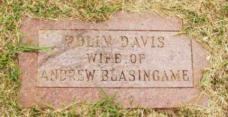 BLASINGAME, POLLY - Kiowa County, Oklahoma | POLLY BLASINGAME - Oklahoma Gravestone Photos