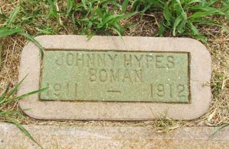 BOMAN, JOHNNY HYPES - Kiowa County, Oklahoma | JOHNNY HYPES BOMAN - Oklahoma Gravestone Photos