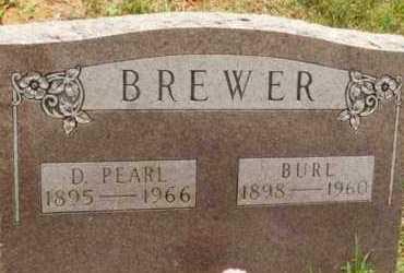 BREWER, BURL - Kiowa County, Oklahoma   BURL BREWER - Oklahoma Gravestone Photos