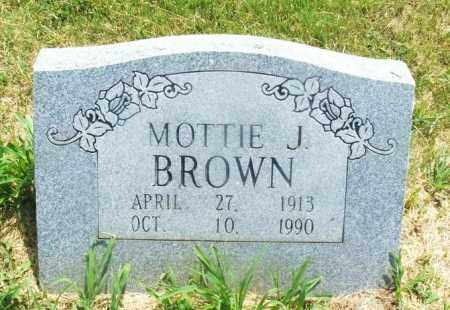 BROWN, MOTTIE J - Kiowa County, Oklahoma | MOTTIE J BROWN - Oklahoma Gravestone Photos