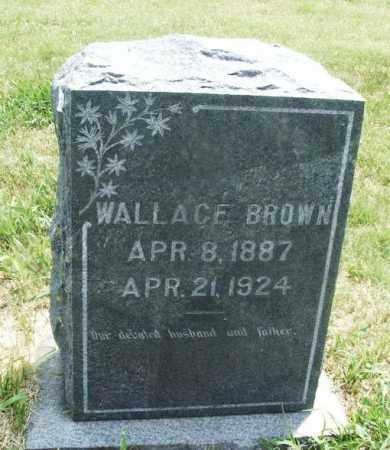 BROWN, WALLACE - Kiowa County, Oklahoma | WALLACE BROWN - Oklahoma Gravestone Photos