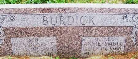 BURDICK, ORA DOLPHIE - Kiowa County, Oklahoma | ORA DOLPHIE BURDICK - Oklahoma Gravestone Photos