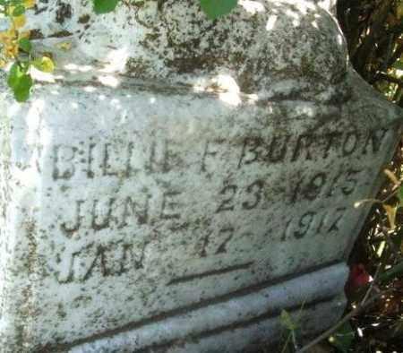 BURTON, BILLIE F - Kiowa County, Oklahoma | BILLIE F BURTON - Oklahoma Gravestone Photos