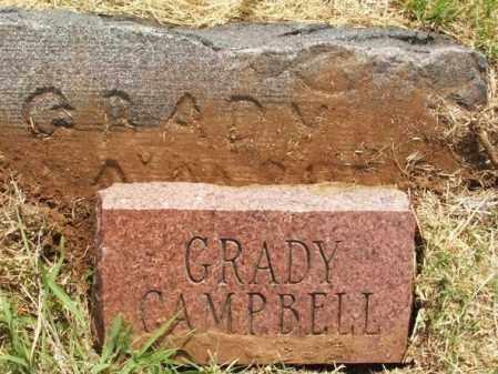 CAMPBELL, GRADY - Kiowa County, Oklahoma   GRADY CAMPBELL - Oklahoma Gravestone Photos