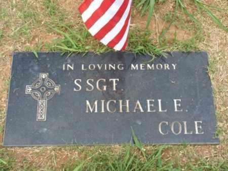 COLE (VETERAN), MICHAEL E - Kiowa County, Oklahoma | MICHAEL E COLE (VETERAN) - Oklahoma Gravestone Photos