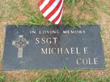 COLE (VETERAN), MICHAEL E - Kiowa County, Oklahoma   MICHAEL E COLE (VETERAN) - Oklahoma Gravestone Photos