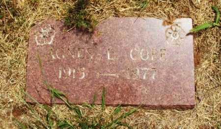 COPE, AGNES L - Kiowa County, Oklahoma | AGNES L COPE - Oklahoma Gravestone Photos