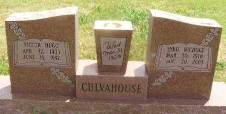 CULVAHOUSE, VICTOR HUGO - Kiowa County, Oklahoma | VICTOR HUGO CULVAHOUSE - Oklahoma Gravestone Photos