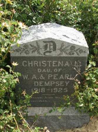 DEMPSEY, CHRISTENA L - Kiowa County, Oklahoma | CHRISTENA L DEMPSEY - Oklahoma Gravestone Photos
