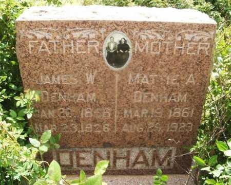 DENHAM, JAMES W - Kiowa County, Oklahoma | JAMES W DENHAM - Oklahoma Gravestone Photos