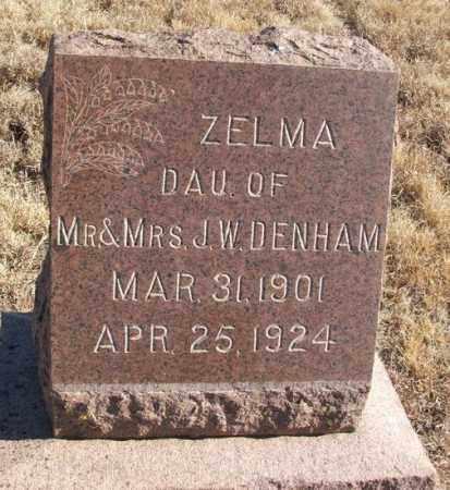 DENHAM, ZELMA - Kiowa County, Oklahoma | ZELMA DENHAM - Oklahoma Gravestone Photos