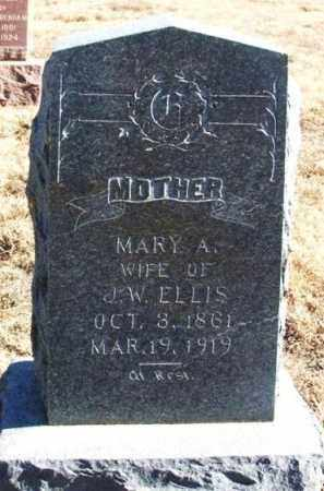 ELLIS, MARY A - Kiowa County, Oklahoma | MARY A ELLIS - Oklahoma Gravestone Photos