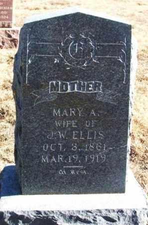ELLIS, MARY A - Kiowa County, Oklahoma   MARY A ELLIS - Oklahoma Gravestone Photos