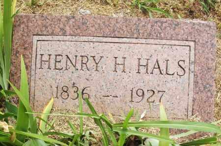 HALS, HENRY H - Kiowa County, Oklahoma | HENRY H HALS - Oklahoma Gravestone Photos