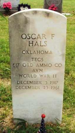 HALS (VETERAN WWII), OSCAR F - Kiowa County, Oklahoma | OSCAR F HALS (VETERAN WWII) - Oklahoma Gravestone Photos