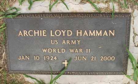 HAMMAN  (VETERAN WWII), ARCHIE LOYD - Kiowa County, Oklahoma | ARCHIE LOYD HAMMAN  (VETERAN WWII) - Oklahoma Gravestone Photos