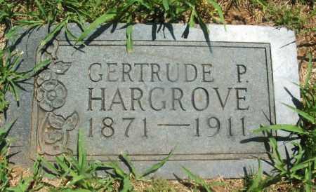 HARGROVE, GERTRUDE P - Kiowa County, Oklahoma | GERTRUDE P HARGROVE - Oklahoma Gravestone Photos