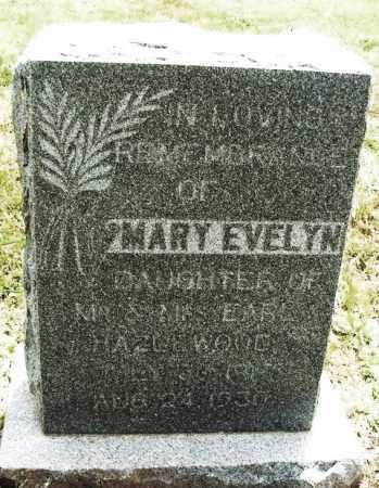 HAZLEWOOD, MARY EVELYN - Kiowa County, Oklahoma | MARY EVELYN HAZLEWOOD - Oklahoma Gravestone Photos