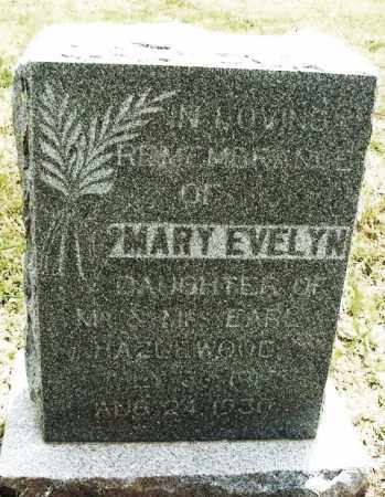 HAZLEWOOD, MARY EVELYN - Kiowa County, Oklahoma | MARY EVELYN HAZLEWOOD - Oklahoma Gravestone Photos