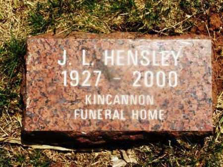 HENSLEY, J L - Kiowa County, Oklahoma | J L HENSLEY - Oklahoma Gravestone Photos