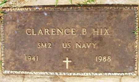 HIX (VETERAN), CLARENCE B - Kiowa County, Oklahoma | CLARENCE B HIX (VETERAN) - Oklahoma Gravestone Photos