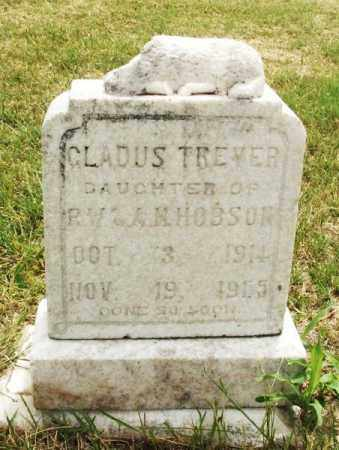 HOBSON, GLADUS TREVER - Kiowa County, Oklahoma   GLADUS TREVER HOBSON - Oklahoma Gravestone Photos