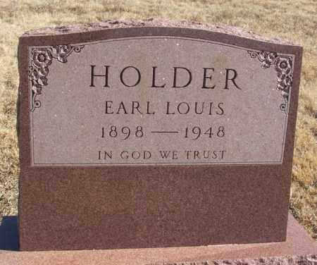HOLDER, EARL LOUIS - Kiowa County, Oklahoma | EARL LOUIS HOLDER - Oklahoma Gravestone Photos